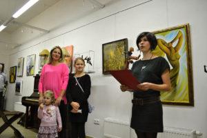 Výstava obrazů Veroniky Švédové v galerii Labyrint, Olomouc 2014